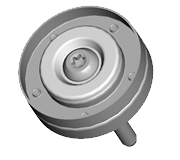 Idler Pulley Steel, Two-Piece Design, toxed